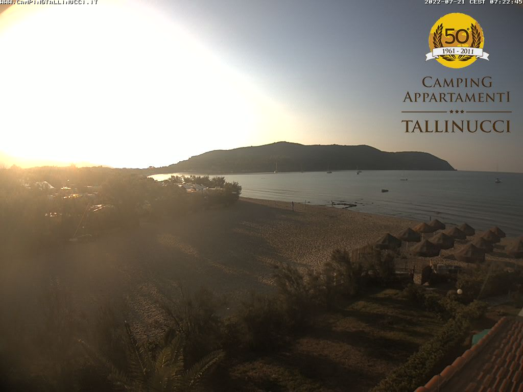 Webcam spiaggia di Lacona - Camping Tallinucci - Capoliveri